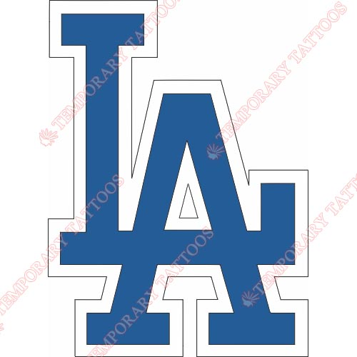 500x500 Los Angeles Dodgers Temp Tattoos Customize Temporary Tattoos