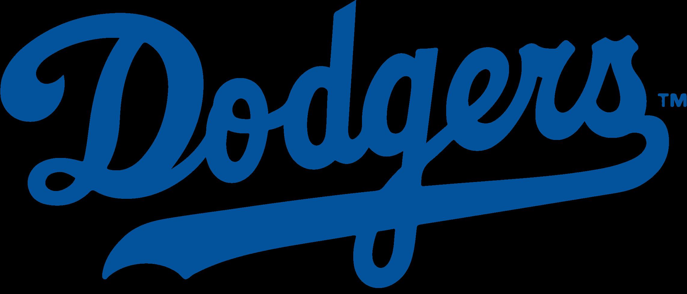 2285x979 Brooklyn Los Angeles Dodgers Chicago Cubs Mlb Logo