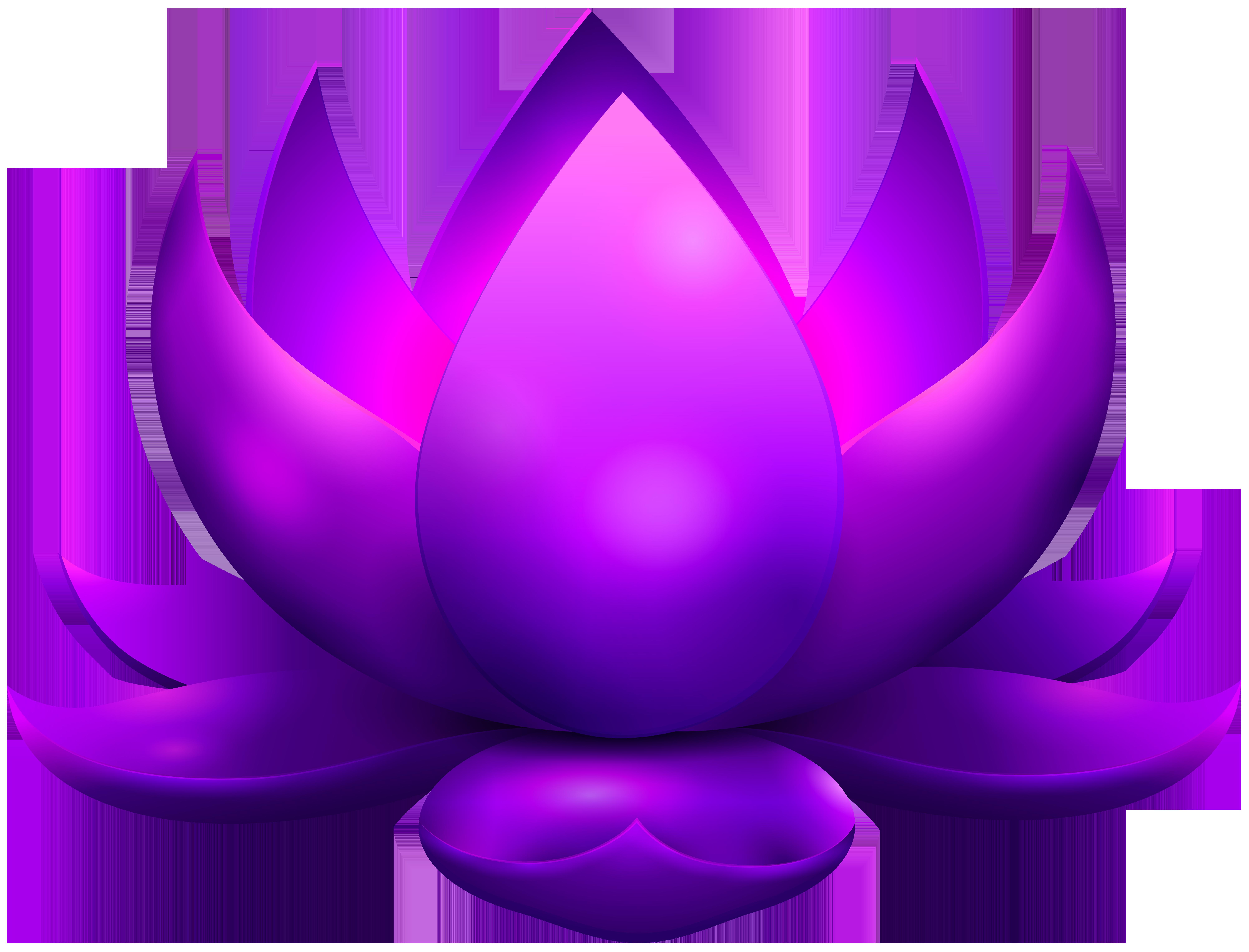 8000x6101 Purple Glowing Lotus Free Png Clip Art Imageu200b Gallery