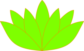 297x180 Green Orange Lotus Flower Picture Clip Art