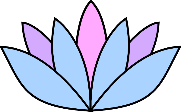 600x371 Lavender Lotus Flower Clip Art