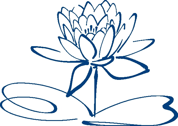 600x426 Lotus Flower Outline Clipart Lotus Flower Outline Blue Clip Art