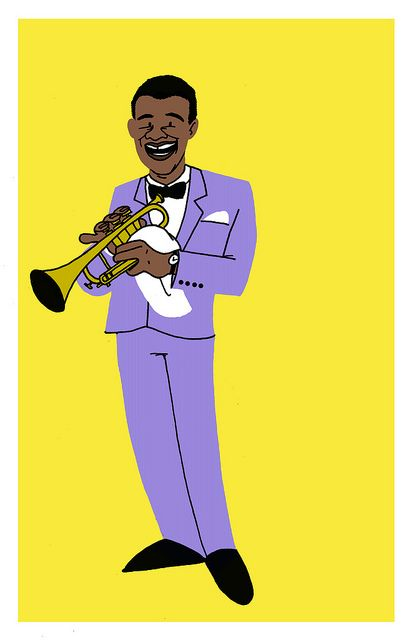414x640 Louis Armstrong Louis Armstrong And Doodles