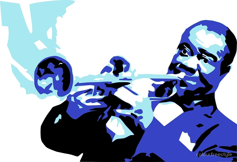 1000x685 Louis Armstrong By Colourfreestyle Redbubble