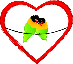 300x263 Free Lovebirds Clipart Image 0515 1102 0614 5531