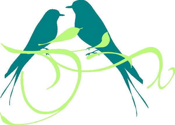 600x430 Love Birds Clip Art