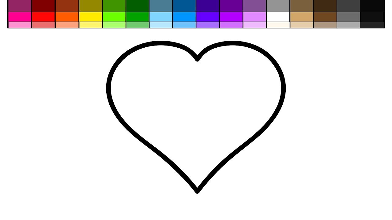 1280x720 Heart Coloring