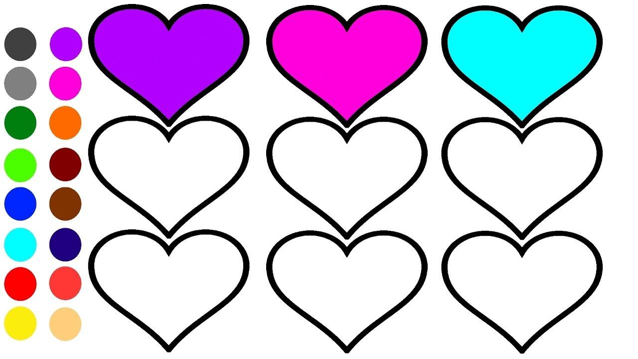 1280x720 Heart Coloring Images Wagashiya