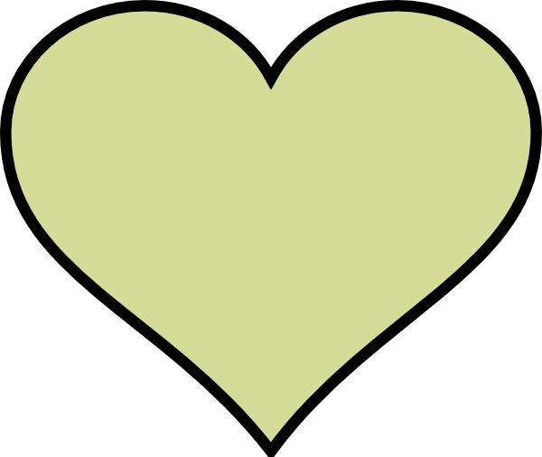 600x506 Heart To Colour Green Heart Different Colour Clip Art