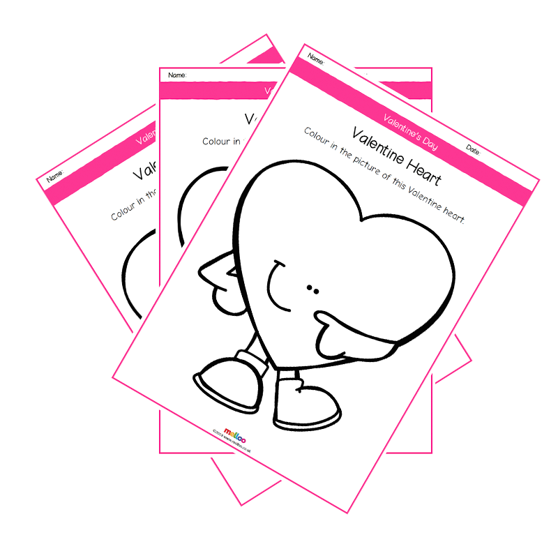 800x800 Valentine Hearts Colouring Pages Special Days Eyfs, Ks1, Ks2