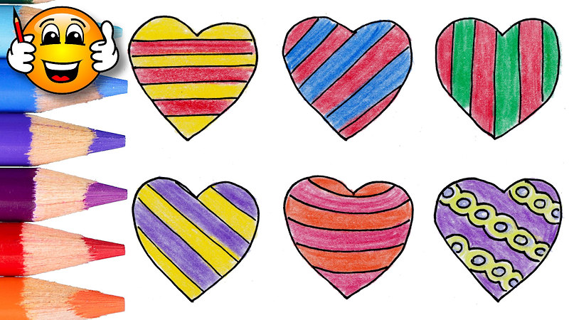 800x450 Coloring Pages For Kids Hearts