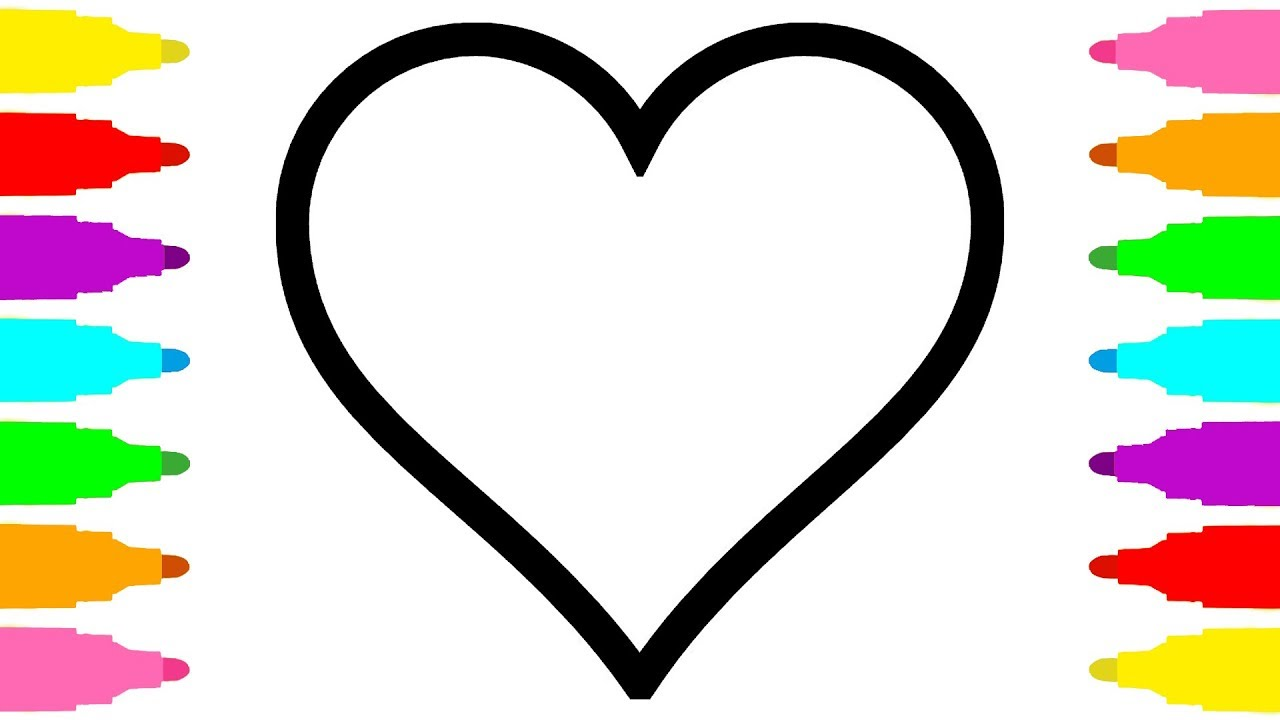 1280x720 Coloring Pages Heart For Kids