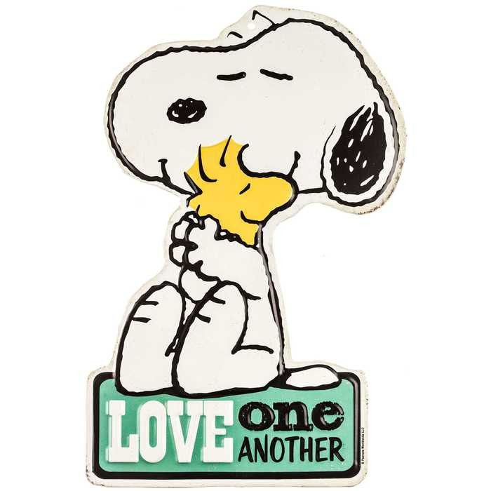 700x700 Love One Another Snoopy Amp Woodstock Tin Sign Zebra Print Signs