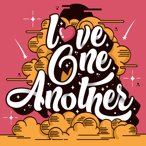 490x490 Love One Another Typography