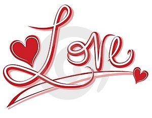 300x233 Love Word Clip Art Clipart