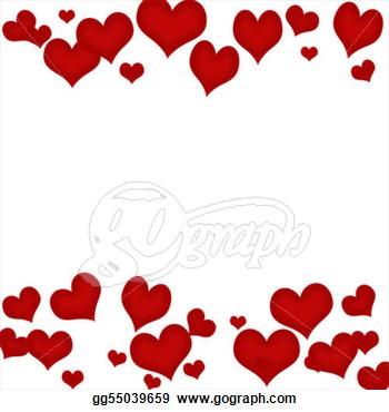 350x370 Valentine Hearts Border Clip Art