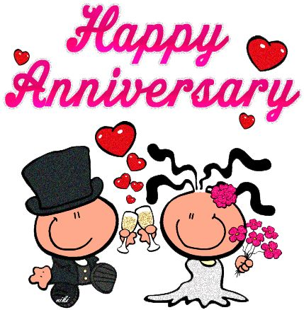 429x438 Happy Wedding Anniversary Clipart