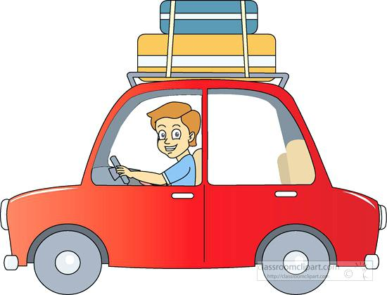 550x419 Free Clip Art Travel Automobiles Travel By Car Suitcase On Roof