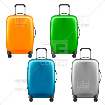 400x400 Modern Plastic Wheeled Suitcase