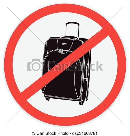 450x470 No Luggage Sign. No, Luggage, Baggage, Sign, Vector, Vector