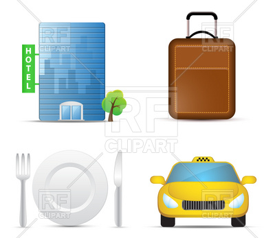400x347 Set Of Travel Icons Royalty Free Vector Clip Art Image