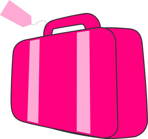 600x566 Clipart Luggage Pink Suitcase Clip Art