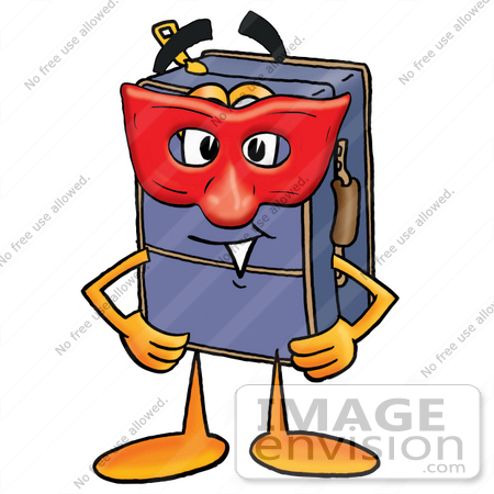 450x450 Cliprt Graphic Of Suitcase Luggage Cartoon Character Wearing