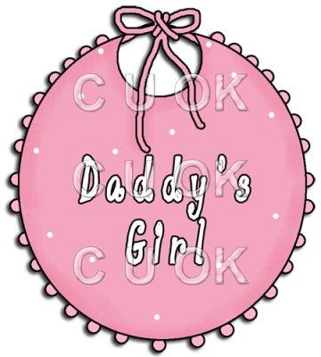 360x400 Ref157 Pink Baby Bib Daddy's Girl