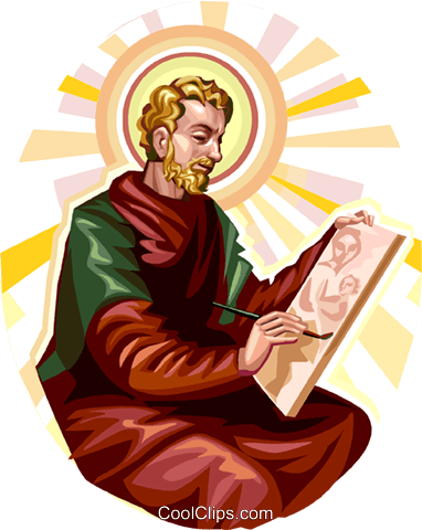 382x480 Saint Luke Royalty Free Vector Clip Art Illustration Vc113267