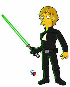 236x294 Luke Skywalker That Simpsons' Style Luke Skywalker