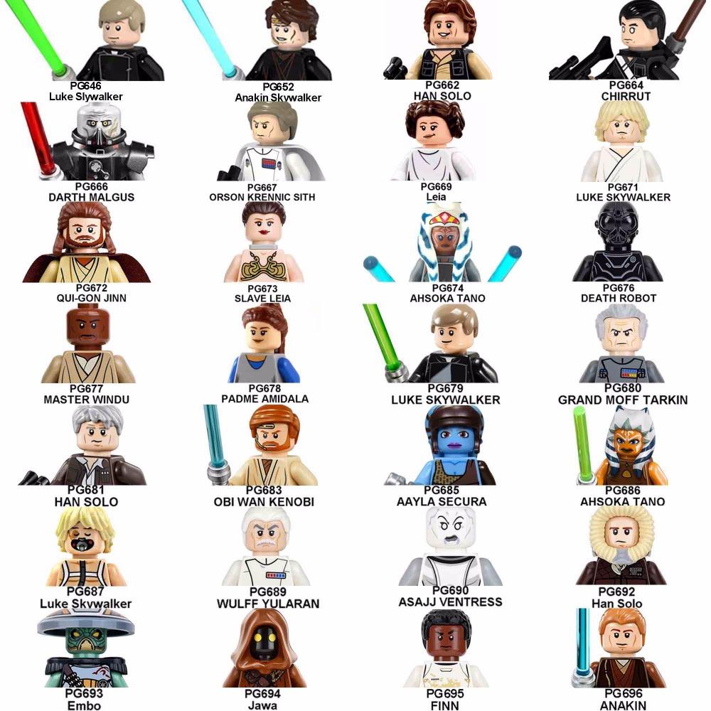 1000x1000 20pcslot Star Wars Darth Vader Leia Han Solo Luke Skywalker Sith