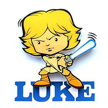 355x355 New Star Wars Mini Luke Skywalker Wall Decoration 3d Amazon.co.uk