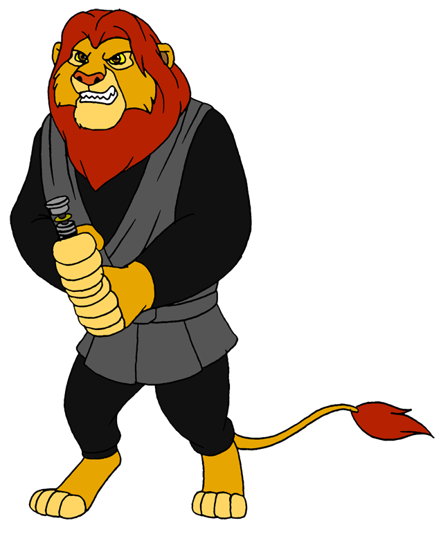 637x772 Simba As Luke Skywalker By Lionkingrulez