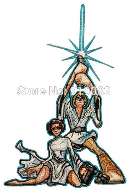 433x640 5.25 Big Cartoon Luke Skywalker And Princess Leia Classic Star