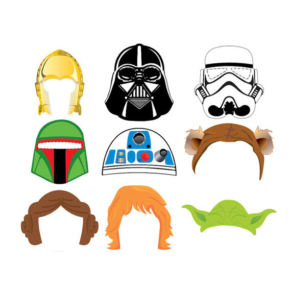 570x570 Star Wars Set 9 Photo Booth Props Instant Download 300 Dpi