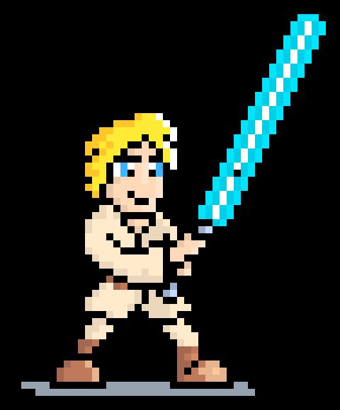480x580 Luke Skywalker Pixel Art Maker