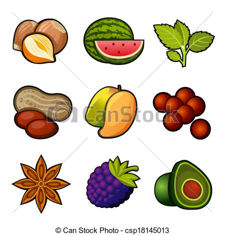 450x470 Set Of Spice Icons Clipart Vector Graphics. 1,395 Set Of Spice