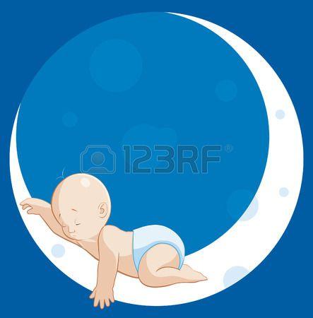 443x450 Durmiendo En La Luna Foto De Archivo Cositas