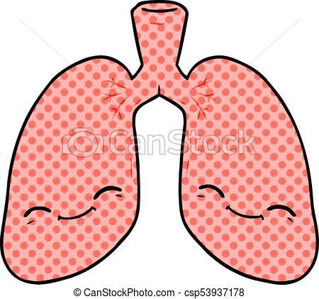 450x421 Cartoon Lungs Vectors Illustration