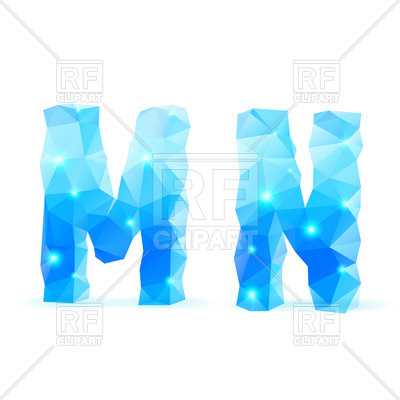 400x400 Blue Crystal Style Font
