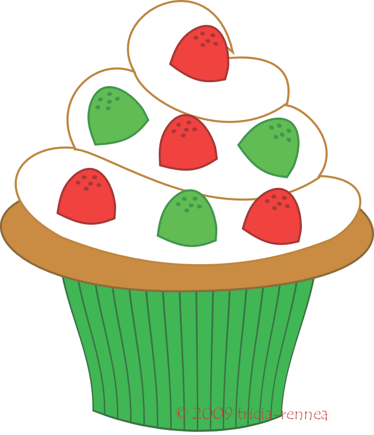 747x868 Free Cupcake Clip Art Pictures