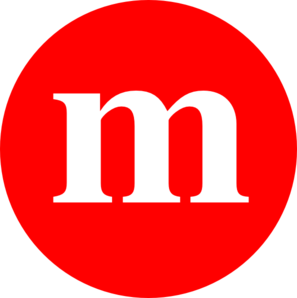 297x298 Red M Clip Art