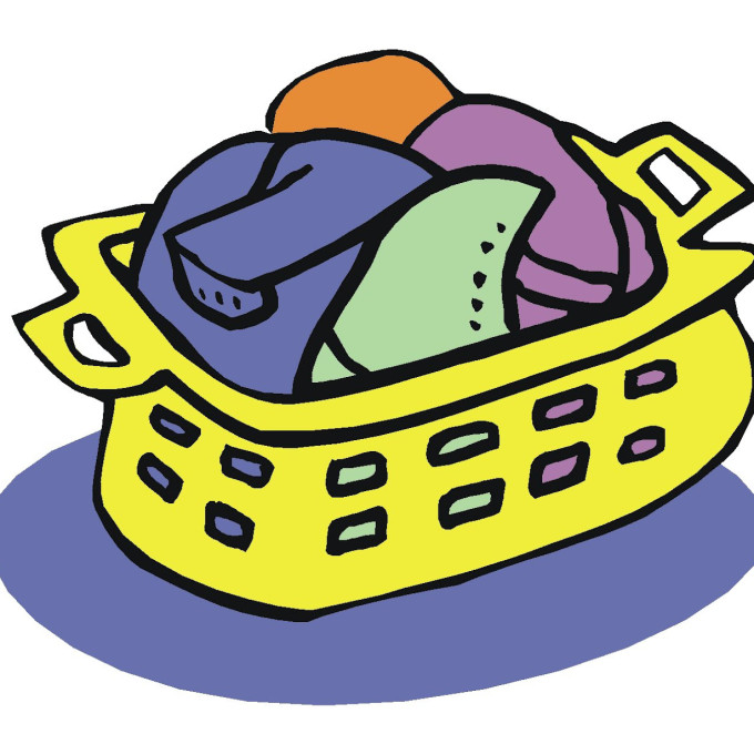 680x680 31 Laundry Basket Clip Art Black And White, Free Laundry Clipart