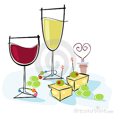 400x400 Wine And Cheese Clipart