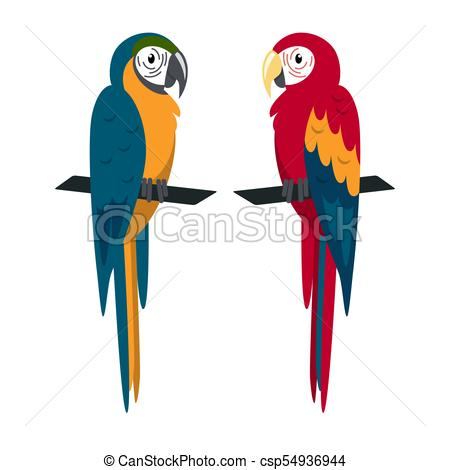 450x470 Macaw Parrot Icon In Flat Style. Macaw Ara Parrot Icon In Eps