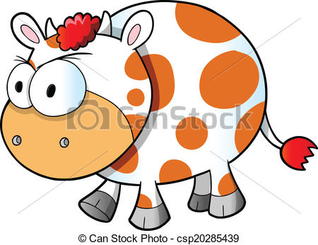 450x346 Mad Angry Cow Vector Illustration Art Vectors