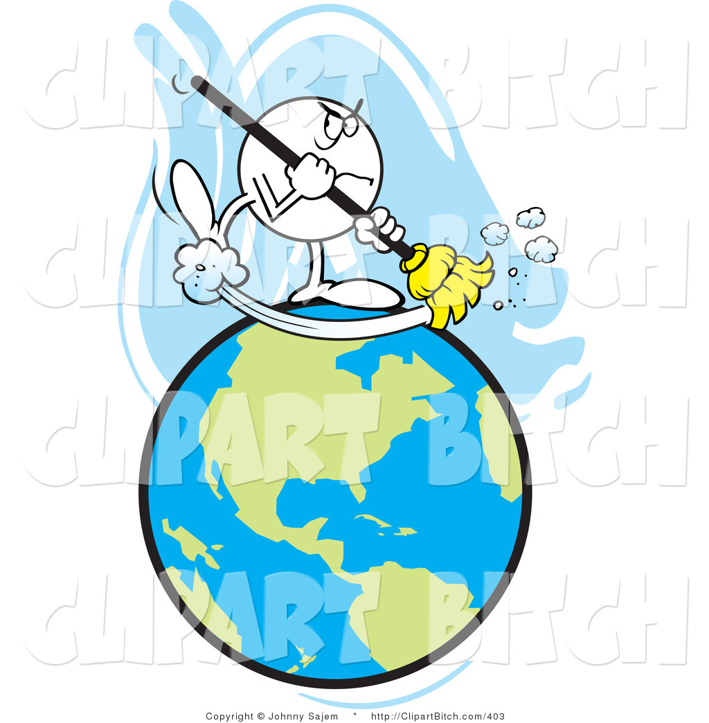 1024x1044 Clip Art Of A Mad Guy Sweeping Earth By Johnny Sajem