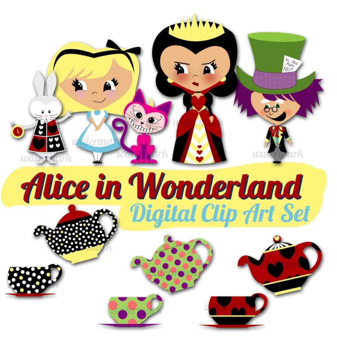 1185x1185 Cat Alice In Wonderland Clipart Tea Party Face Pencil And Color