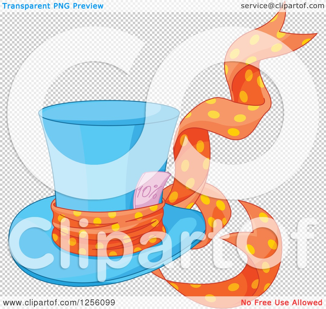 1080x1024 Clipart Of A Blue Mad Hatter's Top Hat With A Ribbon And Ten