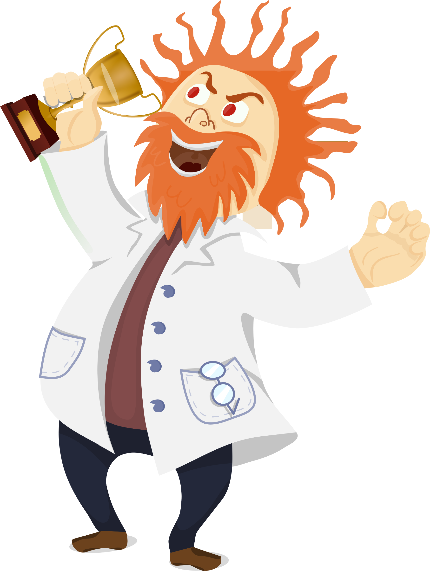 1785x2371 Mad Scientist With A Trophy Icons Png